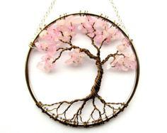 Cornalina alambre árbol de la vida del colgante por HomeBabyCrafts