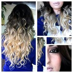 Black & blonde ombre hair