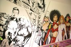 Pintura acrílica em parede