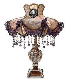 Another great find on #zulily! Pink & Purple Laced Jewel Victorian Style Table Lamp by River of Goods #zulilyfinds
