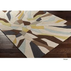 Hand-tufted Barnes Abstract Polyester Rug (8' x 11') (Brown), Size 8' x 11'