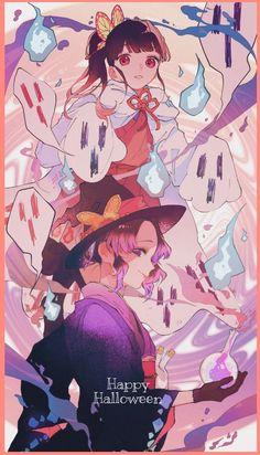 Kimetsu no Yaiba (Demon Slayer) Image - Zerochan Anime Image Board Anime Angel, Ange Anime, Anime Demon, Anime Halloween, Happy Halloween, Demon Slayer, Slayer Anime, Chica Anime Manga, Estilo Anime