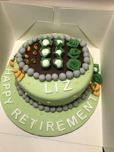 Allotment garden retirement cake