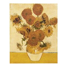 version) 1888 by Vincent van Gogh Hand painted Oil Painting Reproduction Replica Wall Art Canvas Painting Repro Vincent Van Gogh, Diy Wand, Sri Lanka, Vase With Fifteen Sunflowers, Asian Wall Art, Sunflower Canvas, Sunflower Oil, Van Gogh Sunflowers, Poster Online
