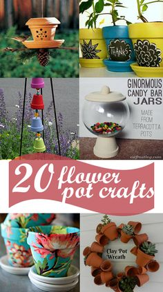20 Flower Pot Craft Project Ideas from too Much Time On My hands