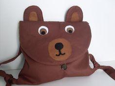 Kiddie bear knapsack