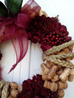 Ghirlanda con tappi bacche rose