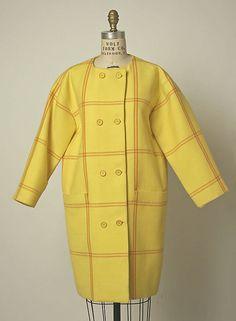 1966, France - Wool coat by Cristobal Balenciaga