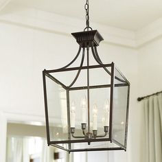Wrought Iron Foyer Chandelier With Candles