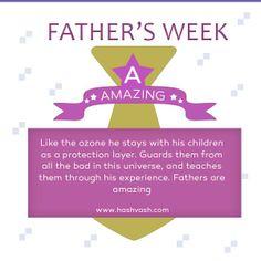 Fathers are amazing.. #fathersday #hashvash #surprise www.hashvash.com Fathers, Wish, Teaching, Amazing, Dads, Parents, Education, Learning