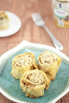 Walnuts and hazelnuts wrapped in phyllo. This baklava style recipe in delicious and will satisfy any sweet tooth.