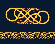 Intertwining Serpents in Urnes Style — Urnes style chain pattern of intertwining serpents inspired by the Urnes and Hørnes Church wood carvings.