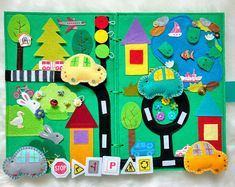 Felt play mat Baby busy board Baby Activity board Toddlers fidget board Quiet book Busy book Felt board Kids gift Montessori Toys