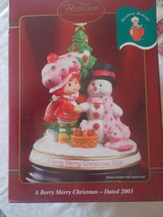 2003 Strawberry Shortcake A Berry Merry Christmas Heirloom Collection New