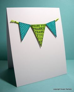 Banner card coloured with Sharpies