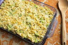 Skinny Baked Mac and Cheese with Broccoli-Skinny Mom