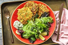 Zucchini, Carrot and Cheddar Fritters Recipe | HelloFresh