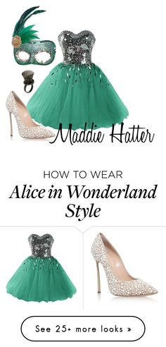 """""""Red Knights Party ~ Maddie Hatter"""" by staybeautiful-273 on Polyvore featuring Casadei, Masquerade, Disney, disney, aliceinwonderland, madhatter, disneycharacter and disneydescendants"""