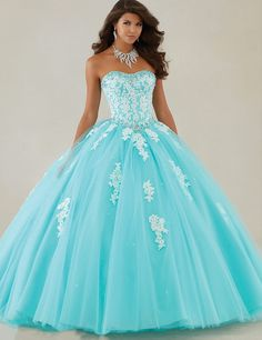 Distinctive Design Appliques Beaded Lace Up Organza Ball Gown Quinceanera Dresses 2016 New Arrival