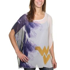 West Virginia Mountaineers Women's Sheer Tunic - Navy Blue
