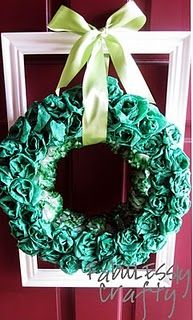 Looks like a lot of work, but really cute wreath for any time of year depending on the color.