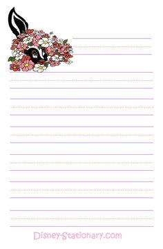 flower skunk kid stationary