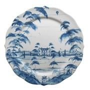 Country Estate Delft Blue Service Plate (Charger) by Juliska Ceramics White Dinnerware, Farmhouse Dinnerware, Country Estate, Country Life, Charger Plates, China Patterns, Blue Patterns, Neutral Palette, Blue China
