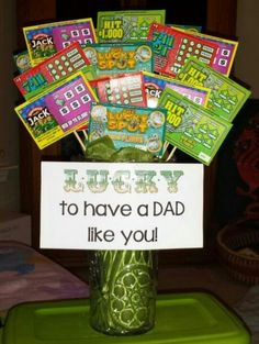 """Lucky to have a dad like you"" lottery scratch off gift"