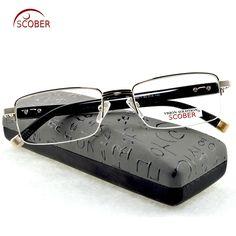 a081affa1c7 Aliexpress.com   Buy   SCOBER   MEN Titanium alloy +TR90 Senators  Antireflective coated reader read Non spherical reading glasses +0.5 +0.75  +1 to +6 from ...