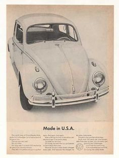 VW Volkswagen Beetle Bug Made in USA Training (1963)