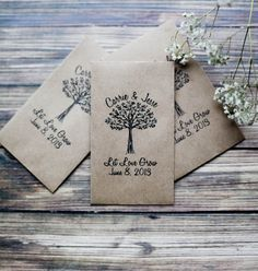 100 Customized Eco Friendly Let Love Grow Wedding Seed Favors via Etsy