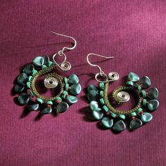 Knitted Wire Earrings