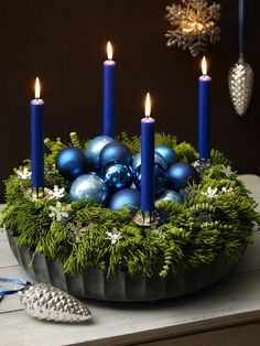 Gives me inspiration to use a bundt pan for the base of  the advent wreath center piece