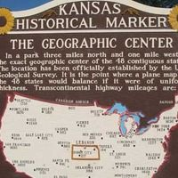 Lebanon, KS - Geographical Center of the 48 States. Nearby is a defunct motel. You can get info on how to get there from the cafe in Lebanon.