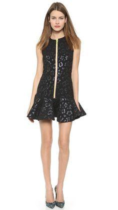 House of Holland Leopard Jacquard Scuba Dress
