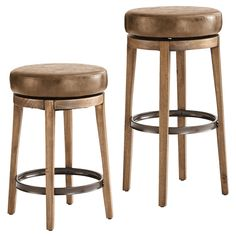 Behold the Stratmoor—a sleek swivel bar stool with dizzying good looks. When someone orders another round from this plush, faux-leather perch, it means one of two things: They want another drink. Or they want to take another spin on the stool. Not recommended: Both at once.