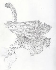 winged snow leopard tattoo by takki says designs interfaces tattoo ...