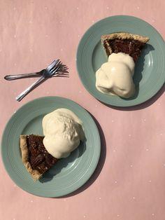 Warm Pecan & Bourbon Pie with Vanilla Ice-Cream  Three. One Four - a London sweet pie company