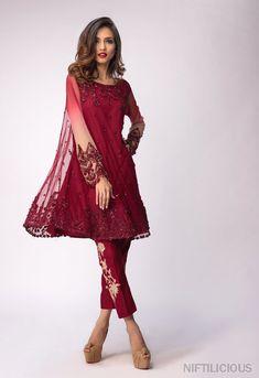 Mina Hasan's Luxury Pret Collection for Eid 2018 – Niftilicious Shadi Dresses, Pakistani Formal Dresses, Pakistani Dress Design, Pakistani Outfits, Indian Dresses, Eid Dresses, Pakistani Fashion 2017, Pakistan Fashion, Indian Fashion