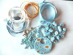 diy Polymer Clay daisy wheel
