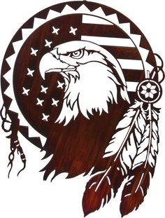"24"" Patriotic Eagle Wall Art www.rusticeditions.com"
