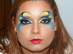 Maquiagem para o Carnaval Rio 2014.