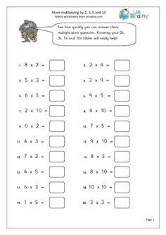 Year 2 homework sheets