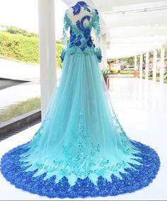 wedding dress kebaya modern blue light 2016.