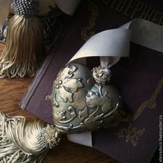 """Купить """"Ночь нежна......"""" Большая масляная лампа и сердечко-подвес - разноцветный, лампа"""