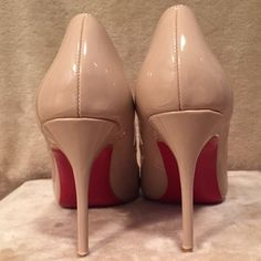UA Tan Pointy Pumps UA So Kate pointy pumps. 4 inch heel. They are absolutely beautiful, just a bit too small on me. Size 38, would fit best for a size 7. They come with the dust bags. Price reflects authenticity. Will sell for less on ♏️! Christian Louboutin Shoes Heels