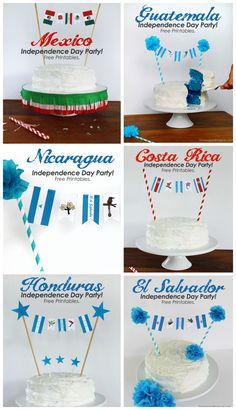 Celebrating Guatemala's Independence : Free Party Printables And Cake Banner for All Central American Countries!- Guatemala, El Salvador, Costa Rica, Nicaragua, Honduras and Mexico