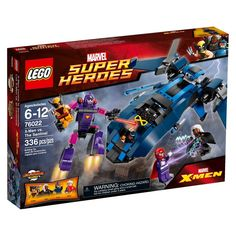 Lego Super Heroes X-Men vs. The Sentinel 76022 (673419212342) Magneto is using his powers to control The Sentinel in an attempt to capture Wolverine. Fight back fiercely with Wolverine and the other X-Men, dodging the huge robots large laser-style weapon and rotating flick missiles. Swoop to the super heros aid with Storm and Cyclops in the iconic Blackbird jet, firing the flick missiles and the spring-loaded shooter. Free Wolverine from The Sentinels grabbing hands so he can rejoin the…