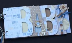 Baby scrapbook album Premade scrapbook for by sandysscrapbooks, $39.00
