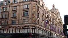 This is a store called Harrod's where really rich people go in London. All we got was a chocolate ;)